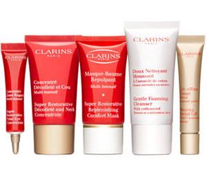 Clarins Free 6-Piece Travel Gift with Purchase