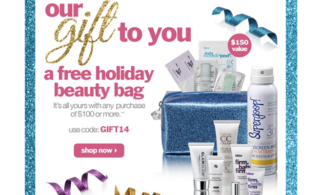 Bliss World Spa - Free 12-Piece Holiday Gift with Purchase