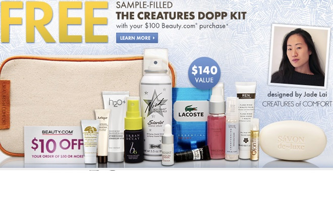 Beauty.com - Free Sample-Filled Gift Bag with Purchase