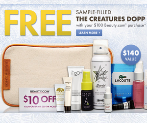 Beauty.com Free Sample-Filled Gift Bag with Purchase