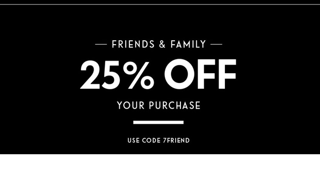 7 For All Mankind - 25% Off Your Purchase